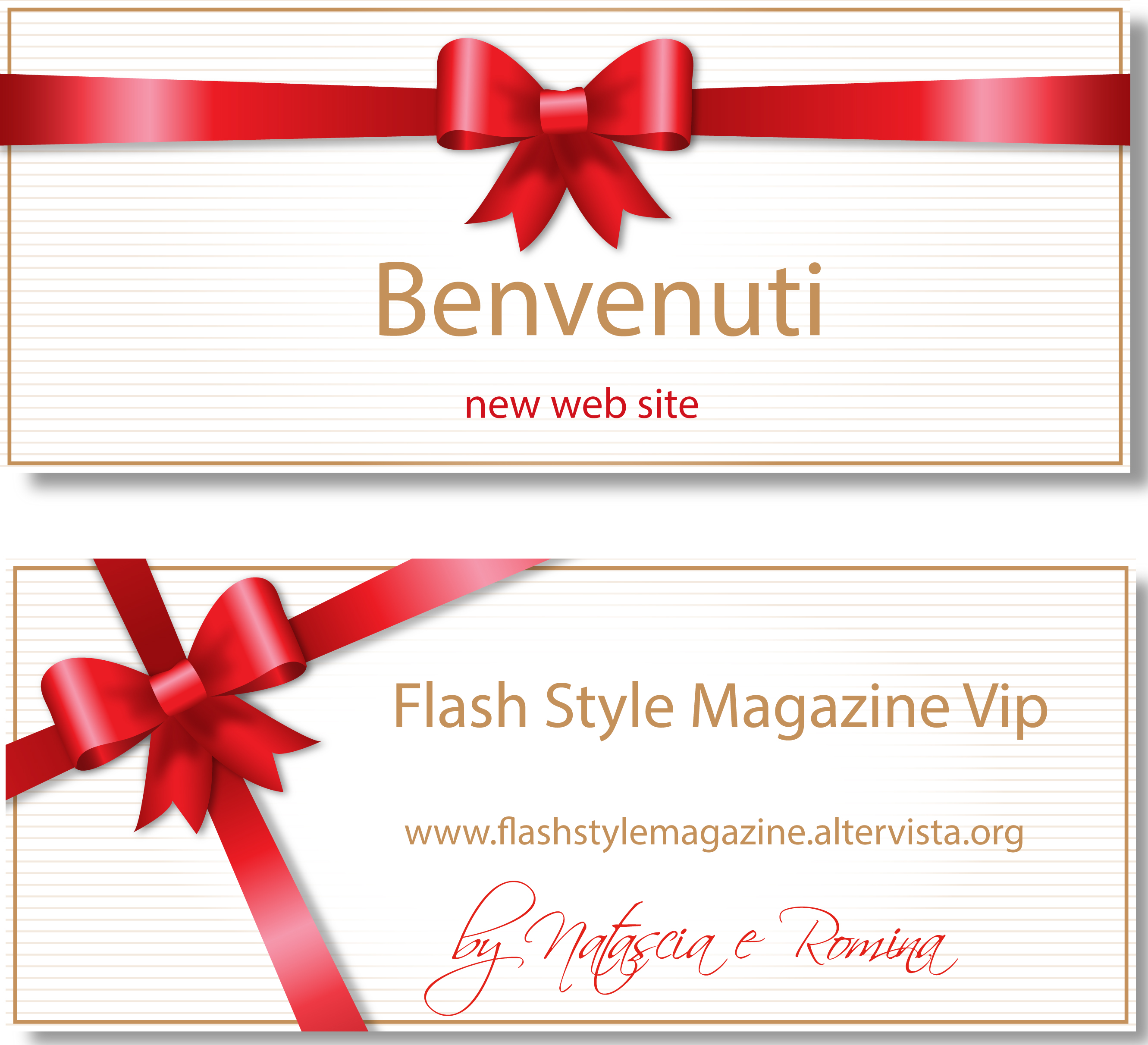 Benvenuti welcome nuovo Flash Style